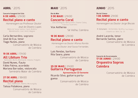 Ciclo de Concertos de Primavera «Arte e Solidariedade»