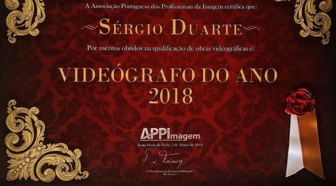 Sérgio Duarte – Vencedor do Prémio Videógrafo do Ano 2018